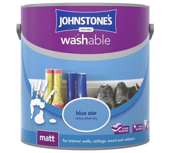 Johnstone's washable matt 2.5 litre paint variety of colours eg, blue star* £6.99 @ Argos
