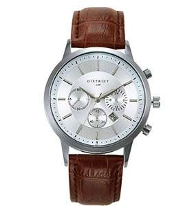 Men's Quartz Watch with Leather Strap - £19.99 (Prime) £23.98 (Non Prime) @ Sold by Bermontgroup LTD and Fulfilled by Amazon