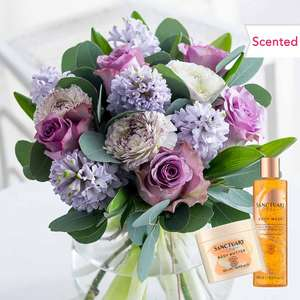 Mother's Day Scented Rose / Hyacinth Bouquet + FREE Sanctuary Spa Luxury Bundle (worth £17) + Free Pop Up Vase £27.99 @ Flying Flowers