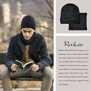 Stay warm with RooLee Man's Black Knitted Hat and Scarf Set was £21.41 now £4.99 Sold by Wallis EU and Fulfilled by Amazon for Prime members £8.98 Non-Prime