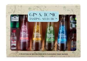 Gin and tonic tasting gift set with 4 gins and 4 bottle green tonic waters £9.99 delivered @ Aldi