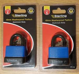 Sterling 48mm Weatherproof Padlock Reduced @ Asda instore - £1.50
