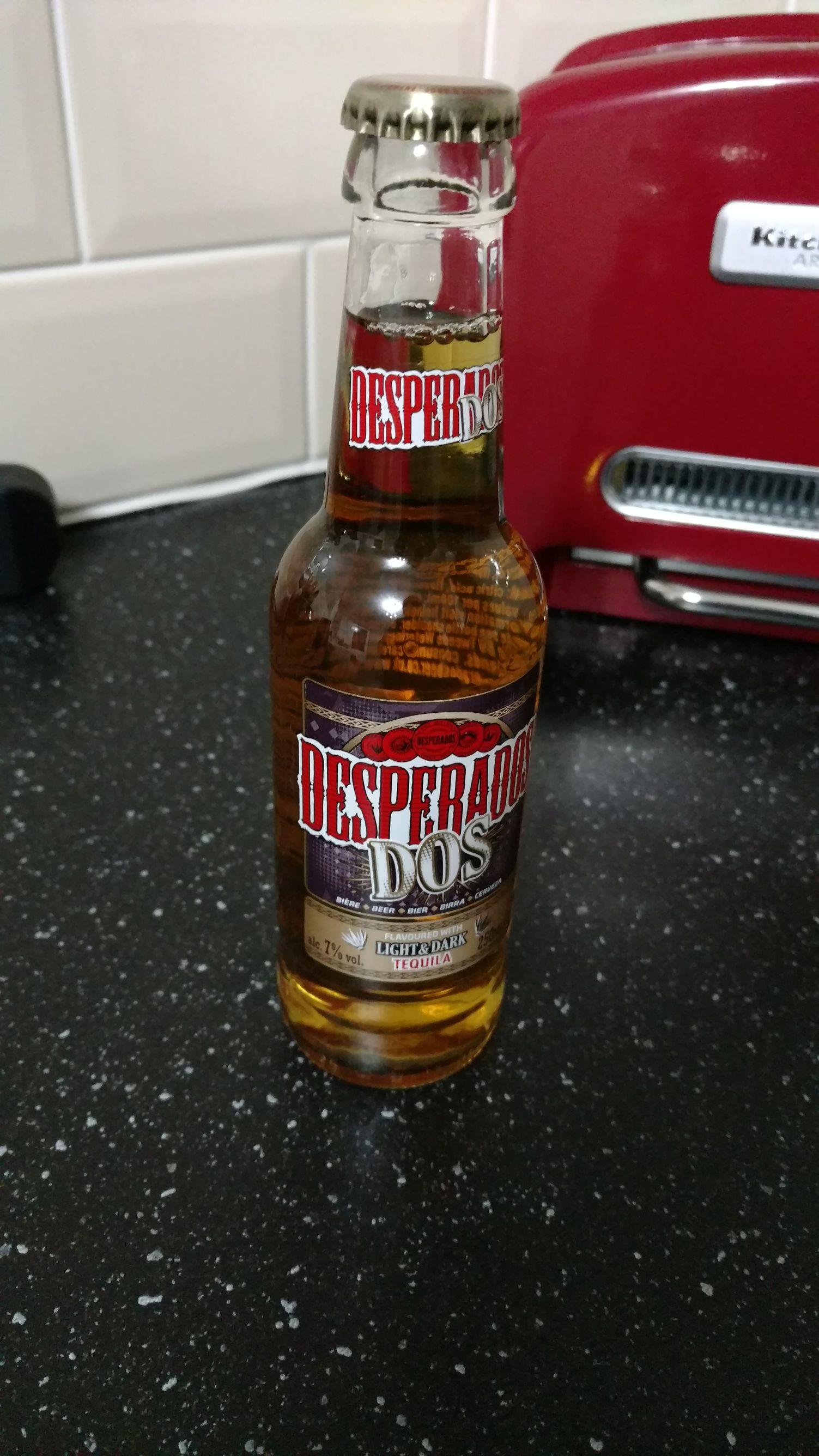 Desperados DOS 7% alcohol. 250ml 69p @ Home Bargains