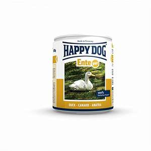 Happy Dog pet food £6.93 (Prime) £11.68 (Non Prime) for 12 tins x 400g @ Amazon - but here's where your cat says woof! - this is 100% duck meat and will go down a treat with your feline friend