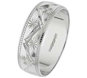 9ct white gold diamond cut 6mm wedding band ring was £229.99 NOW £85.99 @ Argos