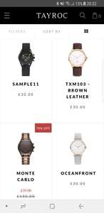 Tayroc sample sale - watches starting from £30