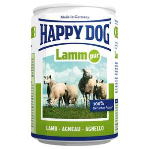 Happy Dog Wet Dog Food Pure Tinned Lamb, 400 g, Pack of 12, £4.54 (Prime), £8.53 (Non-Prime) @ Amazon