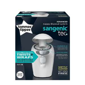 Tommee Tippee Sangenic Tec Nappy Disposal Tub / Bin various colours Inc Pink / Blue £9 (Prime) / £13.75 (non Prime) at Amazon