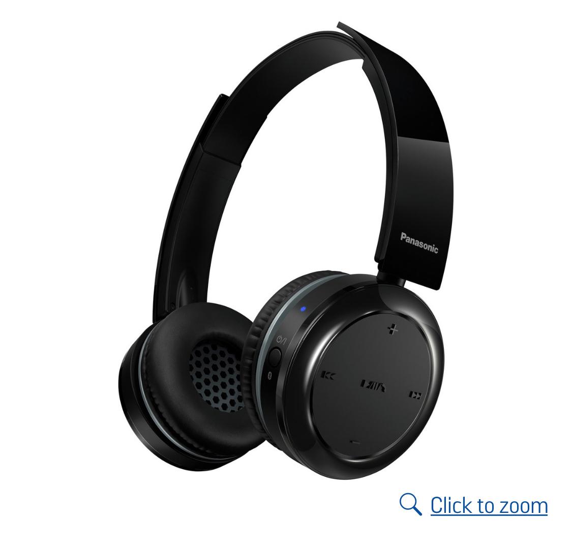 Panasonic RPBTD5EK Wireless On-Ear Headphones - Black £33.99 Argos