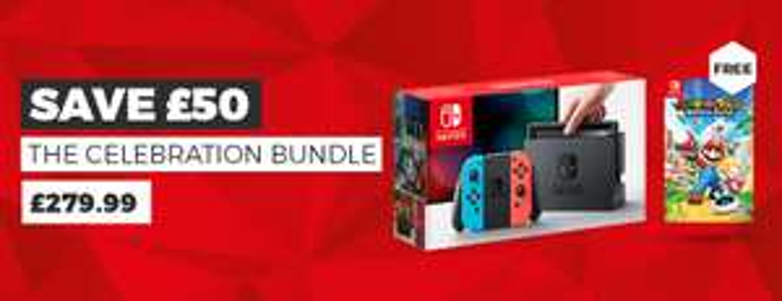 Nintendo Switch Neon/Gray + Mario & Rabbids Kingdom Battle £279.99 @ Game