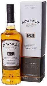 Bowmore No.1 Single Malt Scotch Whisky, 70 cl £22.90 Delivered w Amazon Prime.
