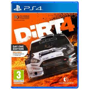 Dirt 4 Day One Edition PS4 £14.99 @ Smyths (free c+c)