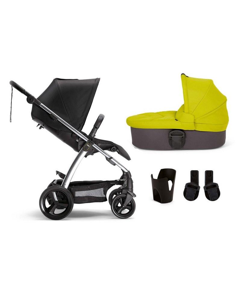 Sola² 4 Piece Pushchair Bundle - Black/Lime Green £281.70 - Mamas & Papas