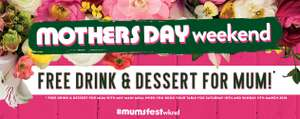 Mums get a FREE Drink & Dessert on 10th & 11th March / Free Glass Of Prosecco With Brunch at Hungry Horse