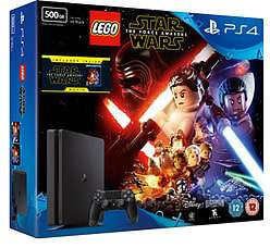 PlayStation 4 500GB Slim with LEGO Star Wars: The Force Awakens and The Force Awakens Blu-Ray - £179.99 @ GAME