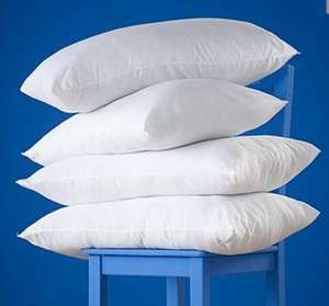 4 pack so snuggly SLUMBERDOWN  pillows  £8.00 INSTORE ONLY @ TESCO WOOLWICH