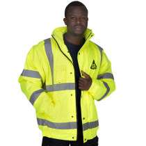 Hi Vis Bomber Jacket Coat - Safety Work Wear High Visibility - XXL £6.99 + £3.99 Standard Delivery £10.98 @ Brooklyn Trading