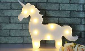 Unicorn Nine-Bulb Battery-Operated LED Light £8.99 Delivered at Groupon