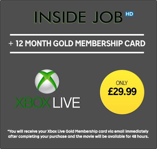 12 Months Xbox Live Membership (and Inside Job rental) - £29.99 - Rakuten.tv