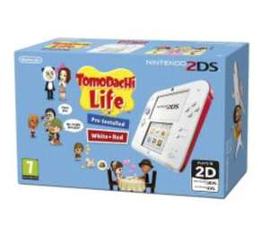 Nintendo 2DS Console White & Red w/ Tomodachi (3DS / 2DS) for £64.99 delivered @ Grainger Games