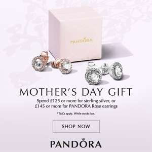 Spend £125 on Pandora and get Free earrings worth £55 @ The Jewel Hut