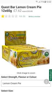 Quest bar lemon pie x 12 - £7.62 @ Holland & Barrett