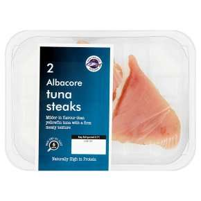 New England Seafood 2 Albacore Tuna Steaks 220g £5.49, 3 for £10, Waitrose