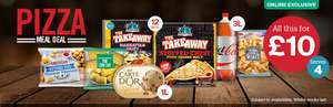 Iceland £10 Pizza Meal Deal