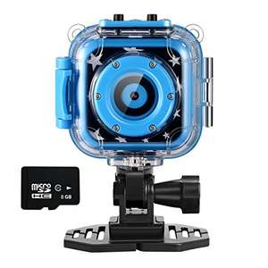 Ourlife Action Camera for Kids w/ 8GB memory card & waterproof case £24.89 delivered @ Ourlife/Amazon