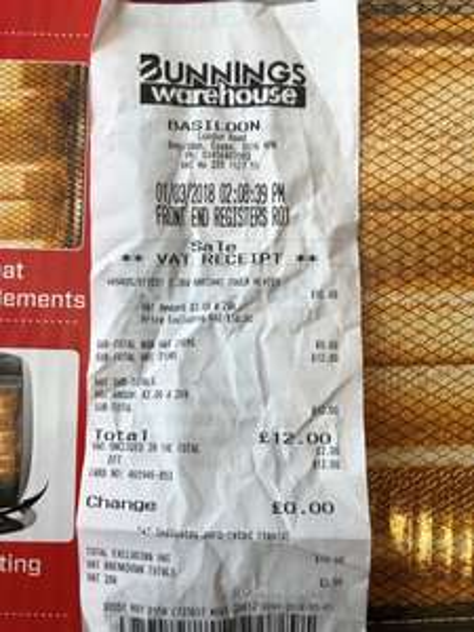 1200W Moretti Halogen Tower Heater £12 at Bunnings Basildon