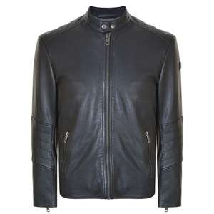 BOSS ORANGE Jeeper Leather Jacket in size 48 only (XXL?) £152 at USC