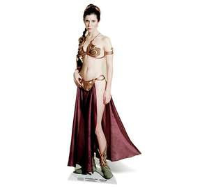 Princess Leia lifesize cardboard cutout - £27.99 @ Argos post free (delivered ONLY)