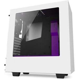 NZXT 340 Compact Mid Tower Case - White/ Purple, £49.47 at laptops direct