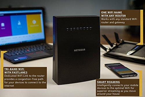 NETGEAR EX8000-100EUS AC3000 Mbps Nighthawk Mesh X6S Tri-Band Wi-Fi Range Extender with FastLane3 £119.99 @ Amazon