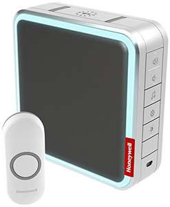 Honeywell DC917NG 9 Series Wireless 200 Meter MP3 Doorbell with Halo Light - Grey at Amazon for £31.94