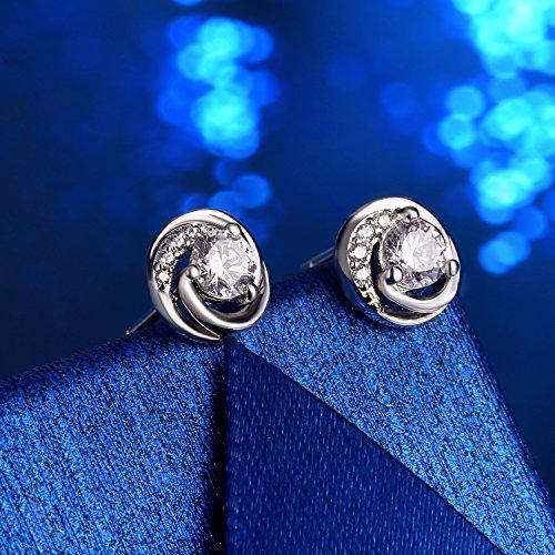AMAZON- Sterling Silver Stud Earrings Womens, 925 Sterling Silver Cubic Zirconia J.Rosée Jewellery £7.99 Prime £10.98 Non Prime Sold by J.Rosée Fine Jewellery and Fulfilled by Amazon