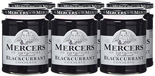 Mercers Blackcurrant Conserve 340 g (Pack of 6)