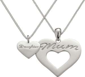 Moon and Back mother & daughter Sterling Silver necklace set £19.99 was £39.99 @ Argos