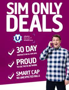 5GB 4G Data - 2000 Minutes - Unlimited Texts - 30 Days Sim @ Plusnet £11 Month