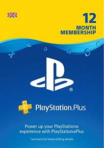 Playstation Plus 12 months subscription (download code) £37.49 @ Amazon