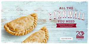 West Cornwall Pasty Co. £1.99 for any pasty any size returns Monday 5th March