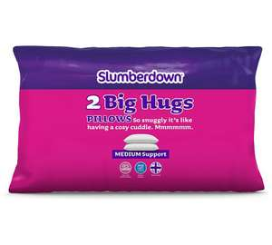 Slumberdown Big Hugs Pillow Pair £4.49 + £3.95 delivery at  The Range