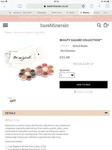 Bare Minerals Beauty Galore Collection Was £64 Now £44 With Code (Worth £138.17) Delivered at Bare Minerals