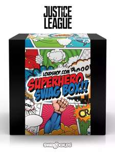 Get a free Superhero Swagbox when you purchase Justice League Swagbox @ Loudclothing