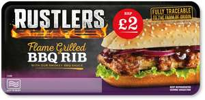 2 x Rustlers BBQ flame grilled Rib Sandwich for £1 in Heron