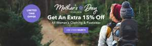 15% off Women's Clothing & Footwear with Code @ Millets