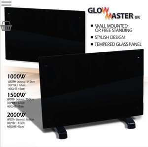 Black Tempered Glass Panel Heater - £29.99 @ WeeklyDeals4Less