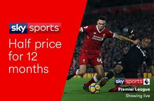 Virgin Media: Sky Sports Half Price for 12 months