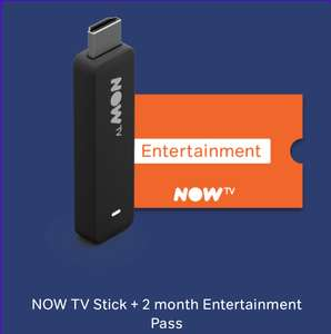 NOW TV Stick + 2 month Entertainment Pass - £19.99 @ NOW TV