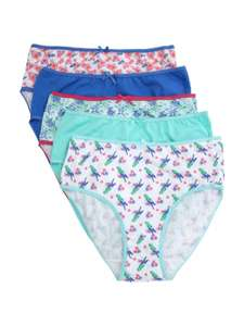 Girls age 10-11 years pack of 5 knickers- briefs now £3.50 @ Peacocks,free c+c